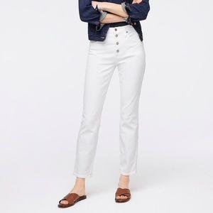 "New J.Crew 10"" Vintage Straight Jean in White"
